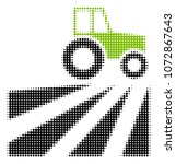 farm field with tractor... | Shutterstock .eps vector #1072867643