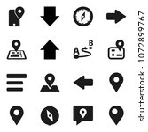 flat vector icon set   compass...