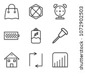 set of 9 simple editable icons... | Shutterstock .eps vector #1072902503