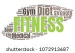 fitness word cloud. vector... | Shutterstock .eps vector #1072913687
