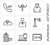 set of 9 simple editable icons... | Shutterstock .eps vector #1072918217