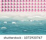 3d rendering. aerial top view... | Shutterstock . vector #1072920767