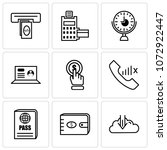 set of 9 simple editable icons... | Shutterstock .eps vector #1072922447