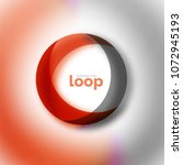 loop circle business icon ... | Shutterstock .eps vector #1072945193