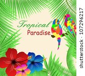 tropical paradise background... | Shutterstock . vector #107296217