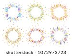 cute and elegant vector floral... | Shutterstock .eps vector #1072973723