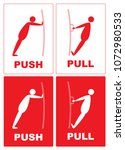 push pull.cartoon actions of a... | Shutterstock .eps vector #1072980533