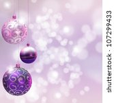 christmas decoration over... | Shutterstock . vector #107299433