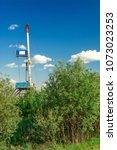 mobile drilling rig for... | Shutterstock . vector #1073023253