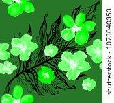 boho pattern. watercolor... | Shutterstock . vector #1073040353