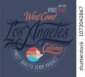 los angeles california tee... | Shutterstock .eps vector #1073042867