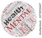 vector conceptual mental health ... | Shutterstock .eps vector #1073052647