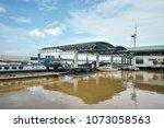 sibu town  sarawak   malaysia   ... | Shutterstock . vector #1073058563