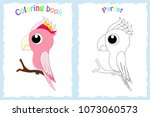 coloring book page for ... | Shutterstock .eps vector #1073060573