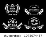 collection of different black... | Shutterstock .eps vector #1073074457