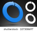blue arrow 3d logos. | Shutterstock .eps vector #107308697