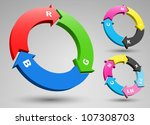rgb and cmyk arrows set | Shutterstock .eps vector #107308703