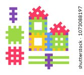 childish toy composed of small... | Shutterstock .eps vector #1073088197