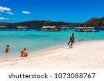 coron palawan philippines april ...   Shutterstock . vector #1073088767