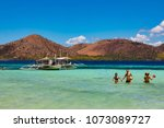 coron palawan philippines april ...   Shutterstock . vector #1073089727
