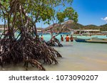 coron palawan philippines april ...   Shutterstock . vector #1073090207