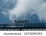 floodlight mast with some... | Shutterstock . vector #1073090393
