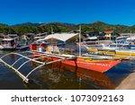 coron palawan philippines april ...   Shutterstock . vector #1073092163