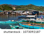 coron palawan philippines april ...   Shutterstock . vector #1073092187
