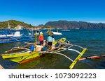 coron palawan philippines april ...   Shutterstock . vector #1073092223