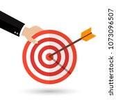target with an arrow flat icon | Shutterstock .eps vector #1073096507