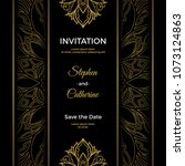 save the date invitation card... | Shutterstock .eps vector #1073124863