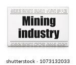 manufacuring concept  newspaper ... | Shutterstock . vector #1073132033