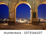 valletta  malta  upper barrakka ... | Shutterstock . vector #1073166107