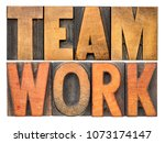teamwork   isolated word... | Shutterstock . vector #1073174147