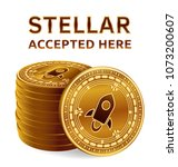 stellar. accepted sign emblem.... | Shutterstock .eps vector #1073200607