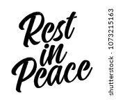 rest in peace text for respect... | Shutterstock .eps vector #1073215163