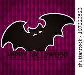 'happy halloween' sticker card... | Shutterstock .eps vector #107323523
