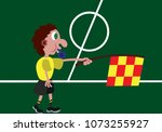 a linesman  busy outside the... | Shutterstock .eps vector #1073255927