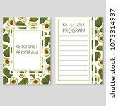 ketogenic diet template  low... | Shutterstock .eps vector #1073314937