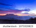 view of table mountain at... | Shutterstock . vector #1073320823