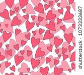 valentine's day seamless... | Shutterstock .eps vector #1073333687