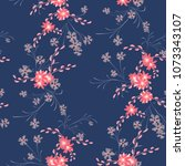 small flowers. seamless pattern ... | Shutterstock .eps vector #1073343107