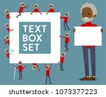 flat type red high neck old man ... | Shutterstock .eps vector #1073377223