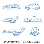 icon set travel holidays ... | Shutterstock .eps vector #1073382683