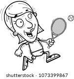 a cartoon illustration of a... | Shutterstock .eps vector #1073399867