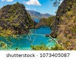 coron palawan philippines april ...   Shutterstock . vector #1073405087