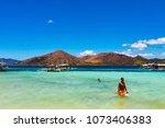 coron palawan philippines april ...   Shutterstock . vector #1073406383