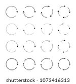 set of black circle arrows.... | Shutterstock .eps vector #1073416313