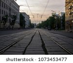 City Landscape. Tram Rail...
