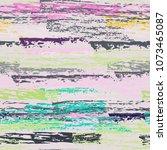 grunge stripes chalk vector... | Shutterstock .eps vector #1073465087